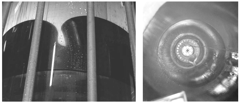 Figure 1 – Buckle on sealing disc showing loss of seal