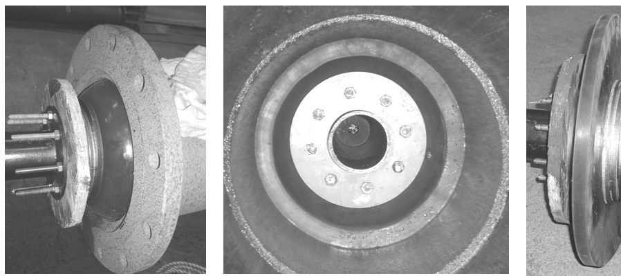 Figure 3 – Pull through test on non-buckling 16-inch seal in 12-inch pipe (probably an extreme example of this technique)